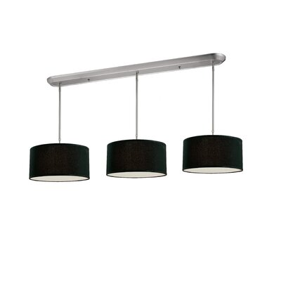 Boese 9-Light Kitchen Pendant Lighting Shade Color: Black