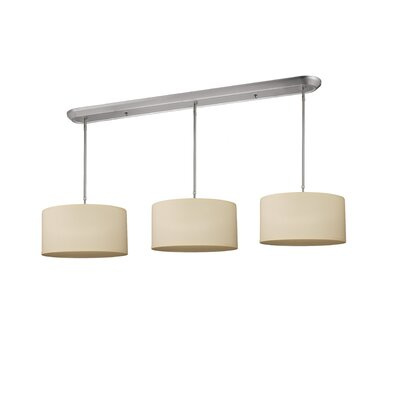 Boese 9-Light Kitchen Pendant Lighting Shade Color: Off White