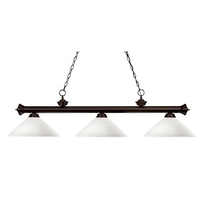 Riviera 3-Light Billiard Light Shade Finish: Matte Opal