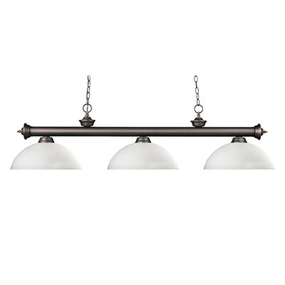 Zephyr 3-Light Metal Billiard Light Shade Finish: Matte Opal