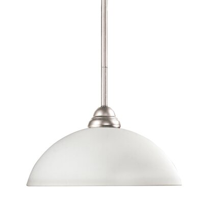 Zephyr Bowl Shade Metal 1-Light Billiard Pendant Shade Finish: Matte Opal
