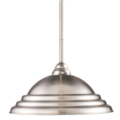 Zephyr Traditional 1-Light Billiard Pendant Shade Finish: Pewter
