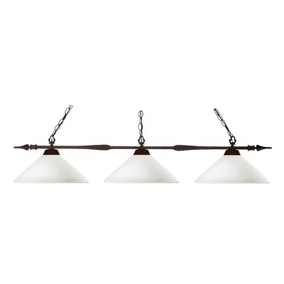 Aztec 3-Light Billiard Light Shade Finish: Matte Opal