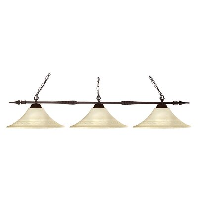 Aztec 3-Light Billiard Light Shade Finish: Golden Mottle