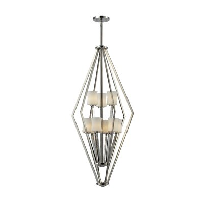 Mchale 9-Light Foyer Pendant Frame Finish: Chrome