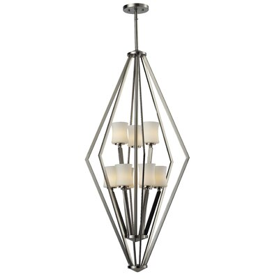 Mchale 9-Light Foyer Pendant Frame Finish: Brushed Nickel