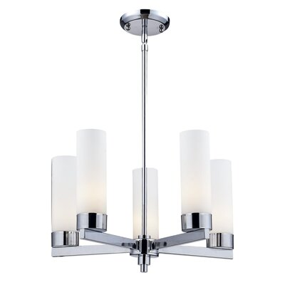 Ibis 5-Light Shaded Chandelier Size: 53