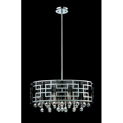 Leanora 6-Light Drum Chandelier Size: 11.5 H x 12 W x 22 D