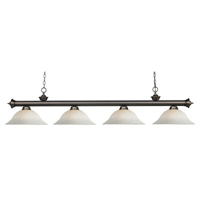 Zephyr Contemporary 4-Light Bell Shade Billiard Light