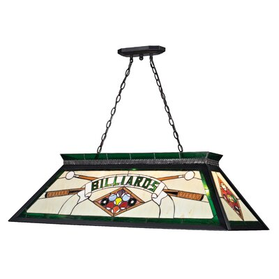 Chappelle 4-Light Billiard Light Color: Green