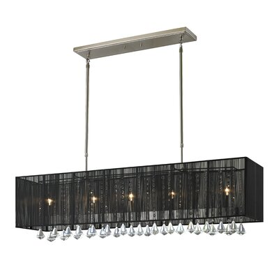 Aura 5-Light Island Pendant Shade Color: Black