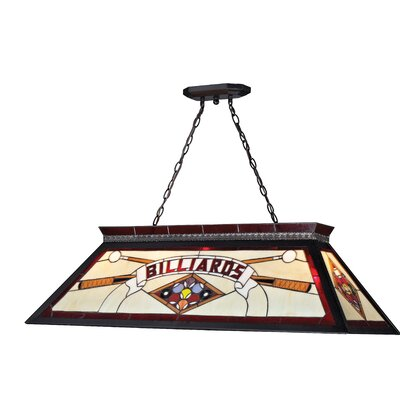 Chappelle 4-Light Billiard Light Color: Red