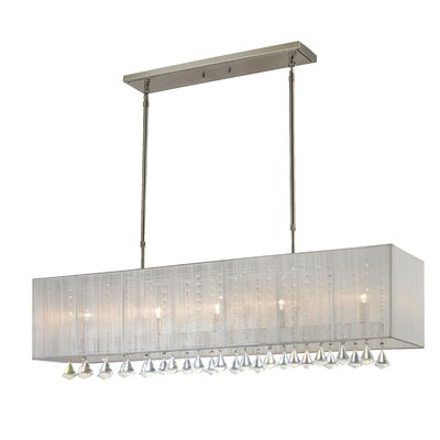 Lavanna 5-Light Island Pendant Shade Color: White