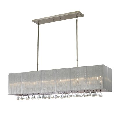 Aura 5-Light Island Pendant Shade Color: Silver