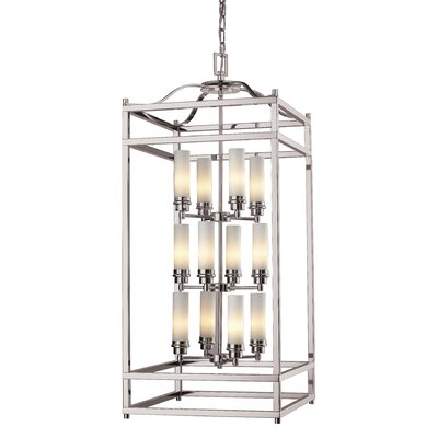 Humiston 12-Light Foyer Pendant Finish: Brushed Nickel