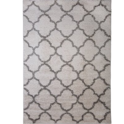 Synergy White/Gray Area Rug Rug Size: Rectangle 52 x 72