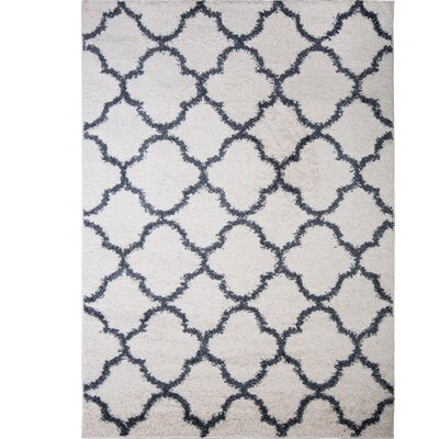 Synergy White/Blue Area Rug Rug Size: Rectangle 33 x 43