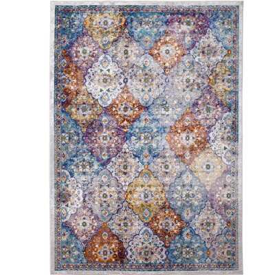 Parlin Patchwork Ivory Area Rug Rug Size: Rectangle 79 x 95