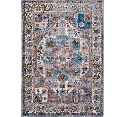 Parlin Bordered Ivory Area Rug Rug Size: Rectangle 79 x 95