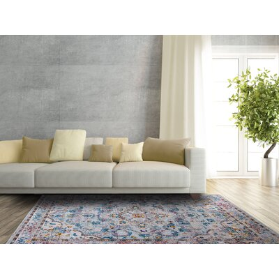 Parlin Diamond Gray Area Rug Rug Size: Rectangle 79 x 95
