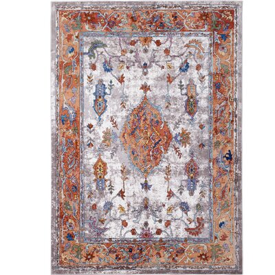 Parlin Royalty Ivory/Rust Area Rug Rug Size: Rectangle 92 x 125