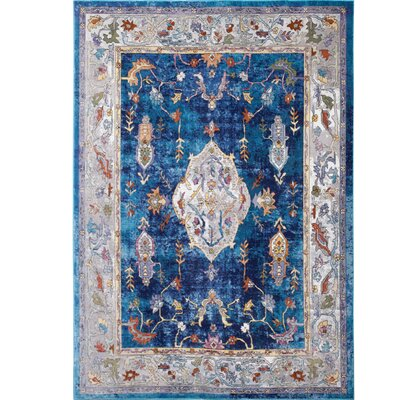 Parlin Royalty Navy Area Rug Rug Size: Rectangle 79 x 95