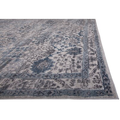 Kenmare Gray/Blue Area Rug Rug Size: 92 x 125