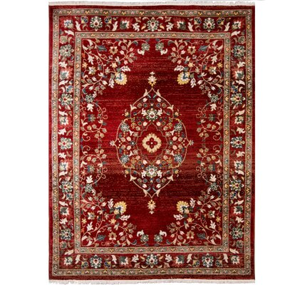 Ridgefield Red Area Rug Rug Size: Rectangle 79 x 101