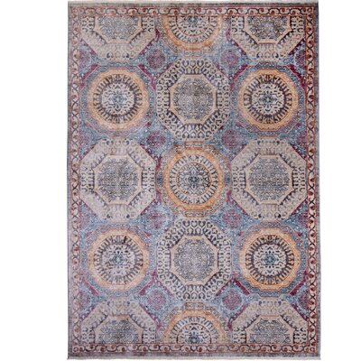 Artisan Gray/Purple Area Rug Rug Size: Runner 22 x 71