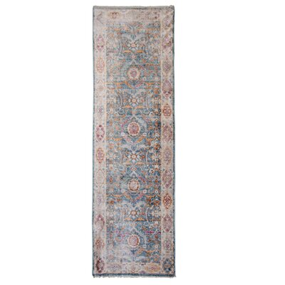 Artisan Blue/Gray Area Rug Rug Size: Runner 22 x 71