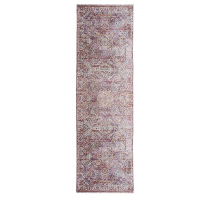 Artisan Rouge Pink/Ivory Area Rug Rug Size: Runner 22 x 71