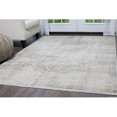 Kenmare Gray/Oat Area Rug Rug Size: 28 x 311
