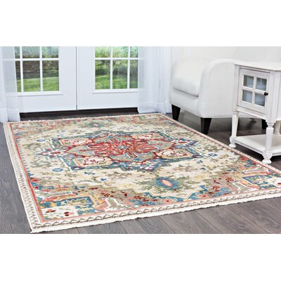 Ridgefield Cream Area Rug Rug Size: Rectangle 52 x 72