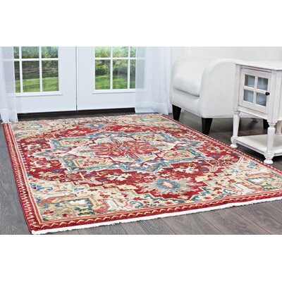 Ridgefield Red Area Rug Rug Size: Rectangle 310x 58