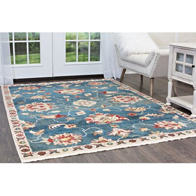 Ridgefield Blue Area Rug Rug Size: Rectangle 26 x 311