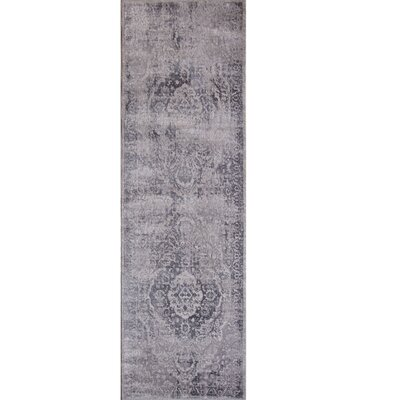 Kenmare Gray Area Rug Rug Size: Runner 22 x 72