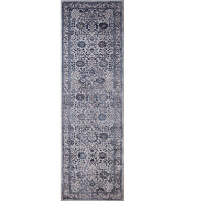 Kenmare Gray/Blue Area Rug Rug Size: Runner 22 x 72