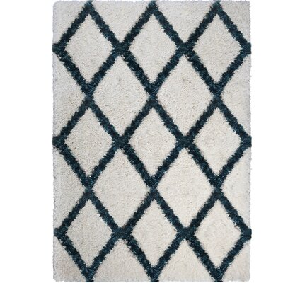 Amsterdam Ivory/Blue Area Rug Rug Size: Rectangle 53 x 72