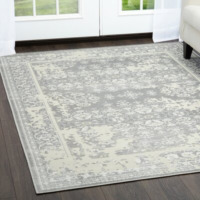 Infinity Gray Area Rug Rug Size: Rectangle 76 x 102