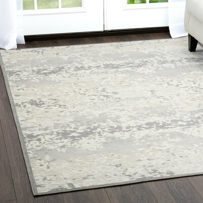 Infinity Ivory/Gray Area Rug Rug Size: Rectangle 26 x 311