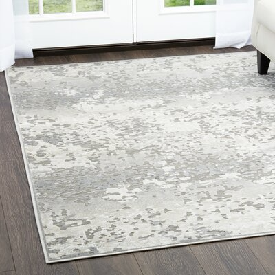 Infinity Dark Gray Area Rug Rug Size: Rectangle 51 x 72