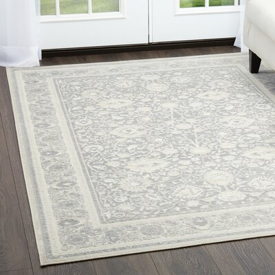 Infinity Dark Gray/Beige Area Rug Rug Size: Rectangle 76 x 102