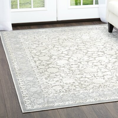 Infinity Charcoal Area Rug Rug Size: Rectangle 36 x 56