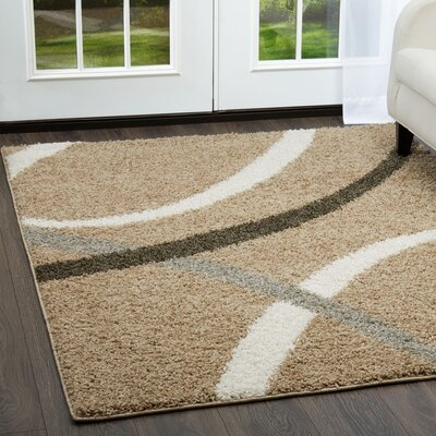 Synergy Beige Area Rug Rug Size: Rectangle 52 x 72