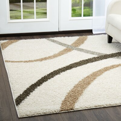 Synergy White Area Rug Rug Size: Rectangle 92 x 125