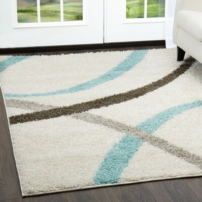 Synergy White Area Rug Rug Size: Rectangle 52 x 72