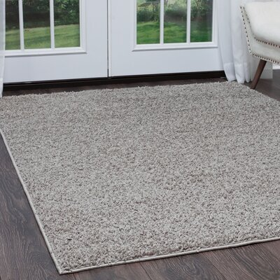 Synergy Gray Area Rug Rug Size: Rectangle 92 x 125
