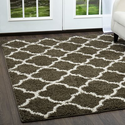 Synergy Dark Gray/White Area Rug Rug Size: Rectangle 52 x 72