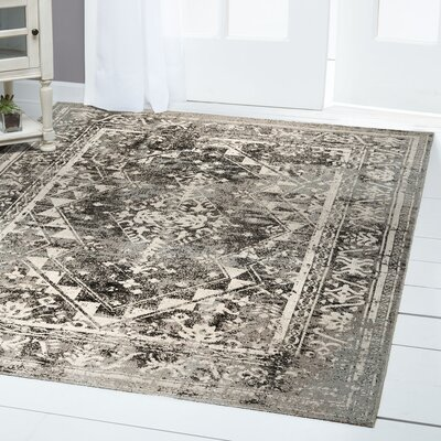 Sofia Brown/Beige Indoor/Outdoor Area Rug Rug Size: Rectangle 53 x 72