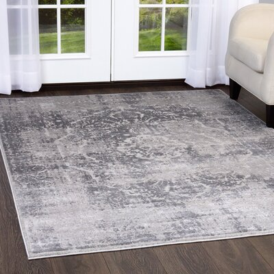 Kenmare Gray Area Rug Rug Size: 79 x 102
